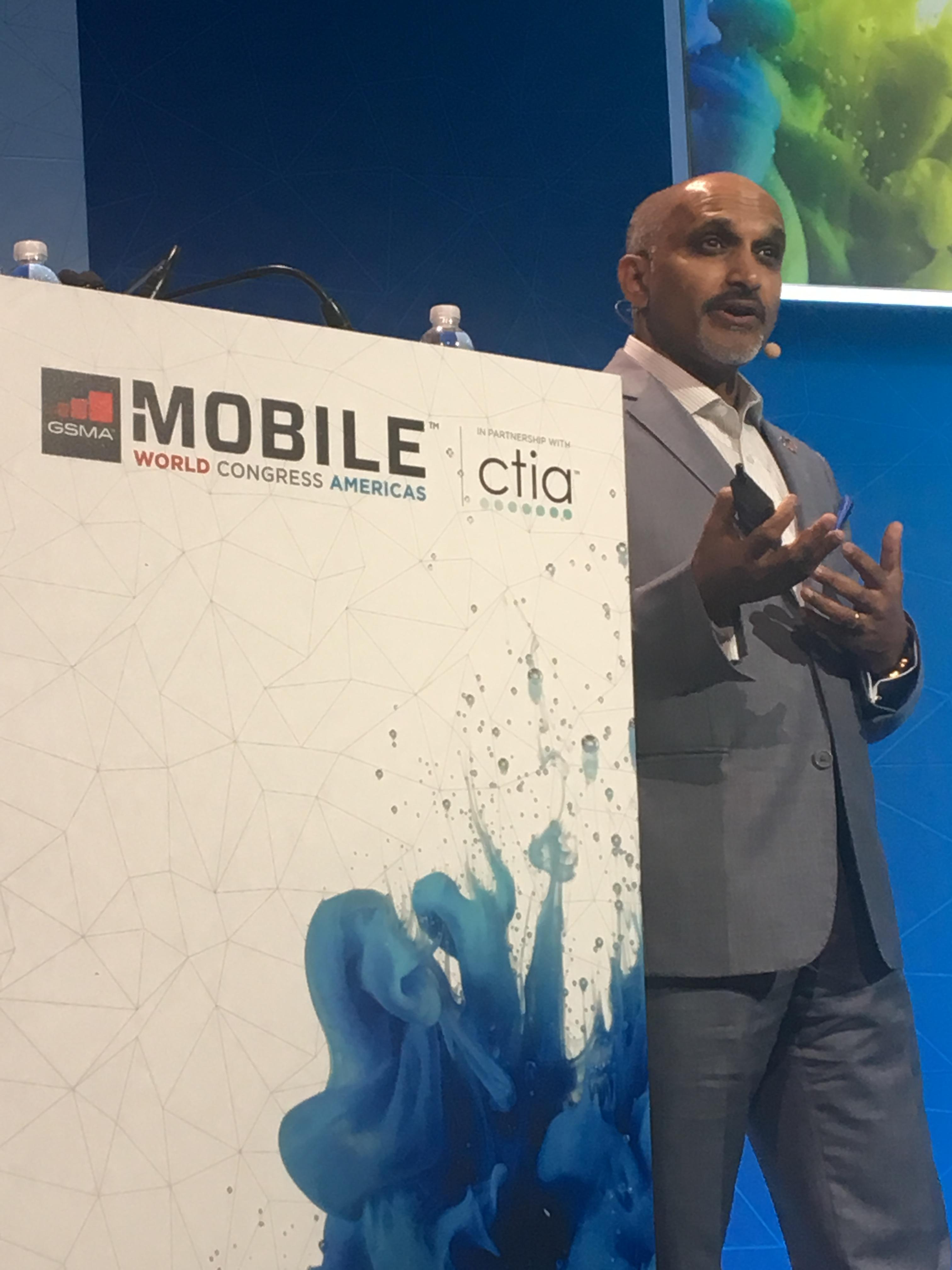 Biju Nair speaking at Mobile World Congress Americas 2017