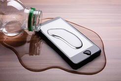 Spilled Water On Smart Phone